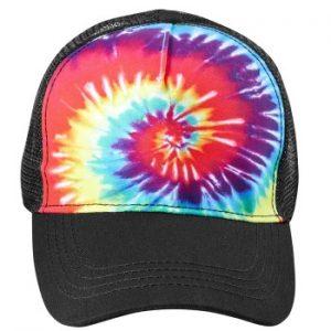 retro promotional items - Tie Dye Truckers Hat